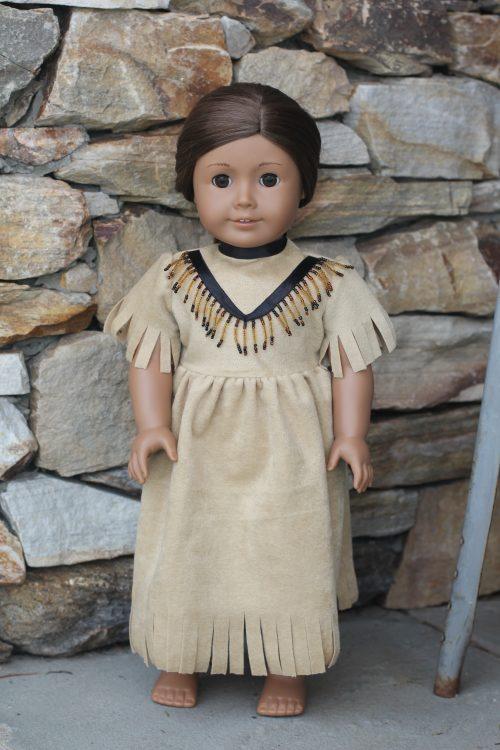 "18"" Indian Doll Dress-Family Farm Handcrafts"