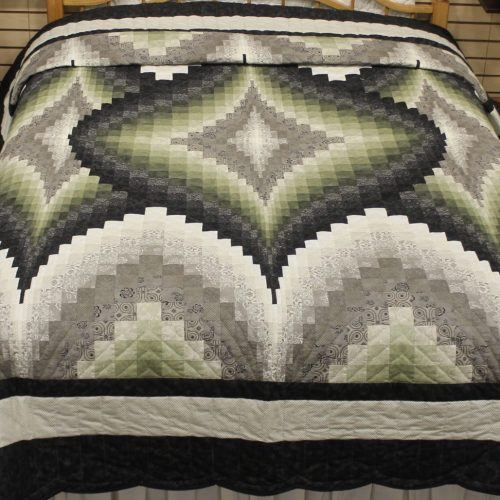 green quilt - Argyle Quilt - Family Farm Quilts