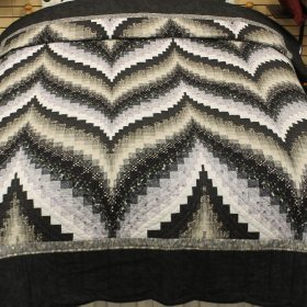 queen quilt - Bargello Flame Quilt - Family Farm Quilts