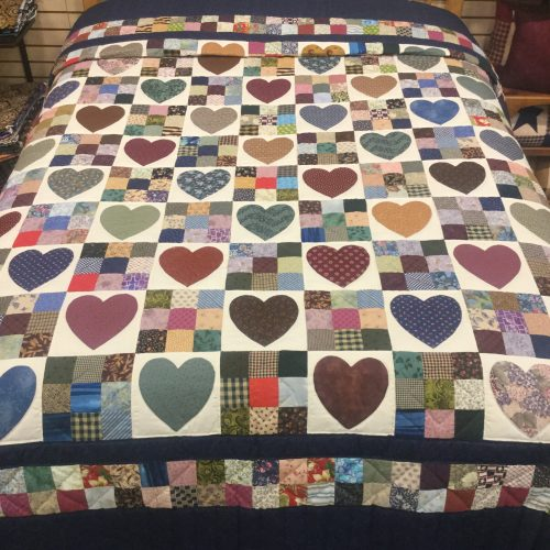 Country Hearts Quilt-Queen-Family Farm Handcrafts