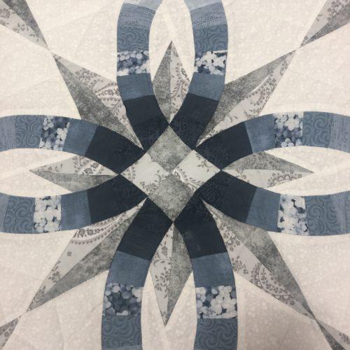 Star Wedding Ring Quilt-Queen-Family Farm Handcrafts