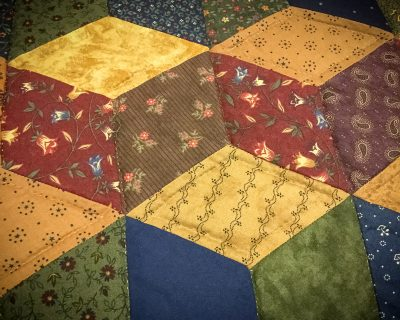 tumbling blocks amish quilt pattern