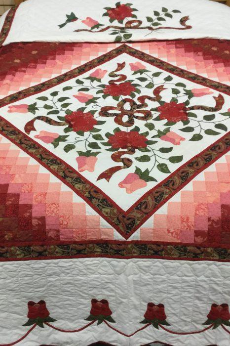 Boston Celtic Rose Quilt-Queen-Family Farm Handcrafts