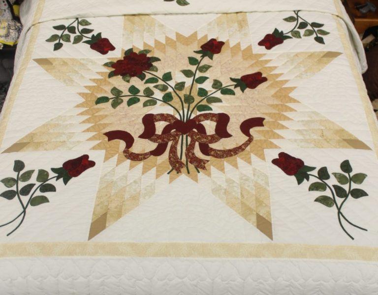 Sampler applique quilt queen family farm handcrafts