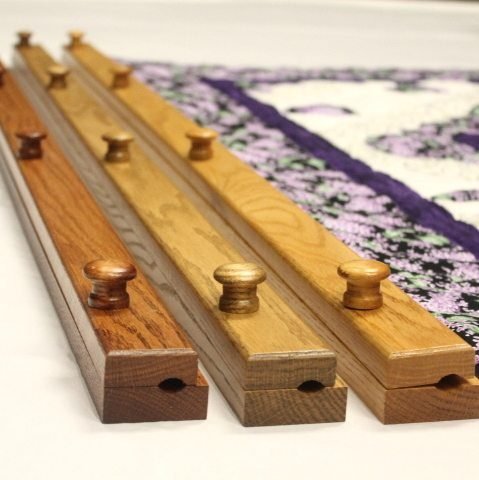 quilt hangers from family farm hadncrafts