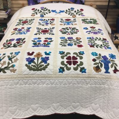 Sampler Applique Quilt-Queen-Family Farm Handcrafts
