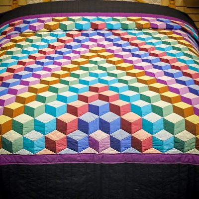 tumbling blocks quilts for sale from amish in lancaster